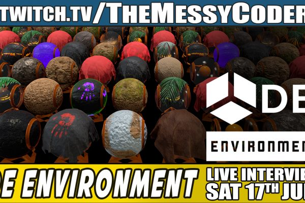 Announcement DE Environment Live Stream with The Messy Coder